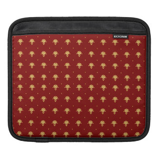 Luxury Red and Gold Vintage Damask Pattern iPad Sleeve