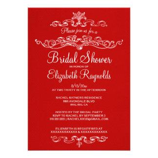 Luxury Red Bridal Shower Invitations Personalized Invitation