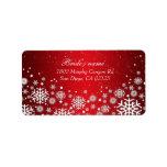 Luxury Red Christmas Spirit Address label Personalized Address Label