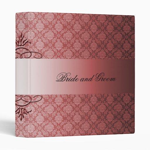 Luxury Red Damask Swirls Romantic Binder