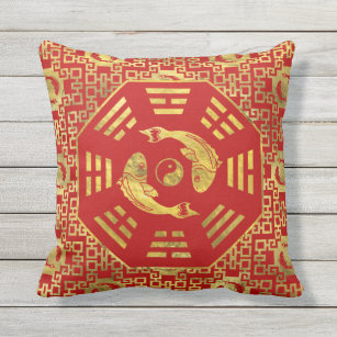 Gold Red Luxury Outdoor Pillows Cushions Zazzle