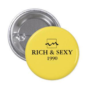 Luxury Rich 1990 Pinback Button