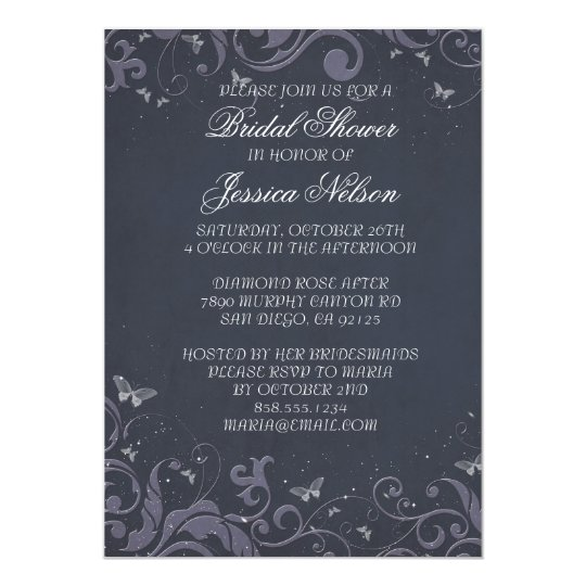 Luxury Romantic Floral Spring Bridal Invite