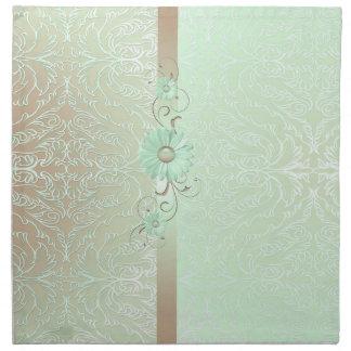 Luxury Romantic Green Damask Napkins
