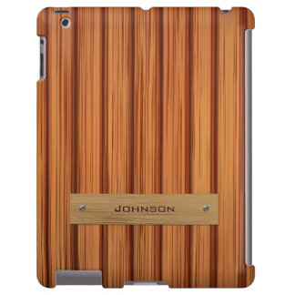 Luxury Rosewood with Plank Custom Name Label