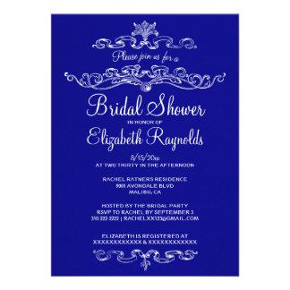 Luxury Royal Blue Bridal Shower Invitations Custom Invitations