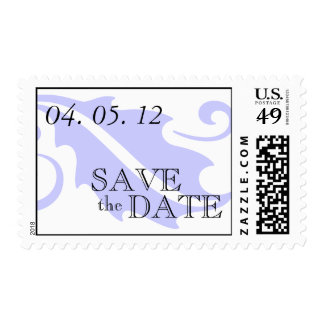 Luxury Save the Date Wedding Postage Stamp Purple