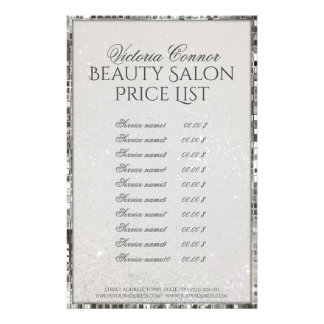 Luxury Shimmer Beauty Salon Price List Flyer