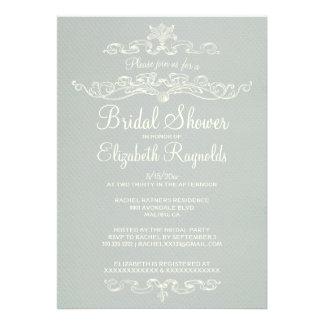 Luxury Silver Bridal Shower Invitations Personalized Invitation