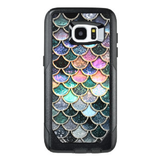 Luxury silver Glitter Mermaid Scales OtterBox Samsung Galaxy S7 Edge Case