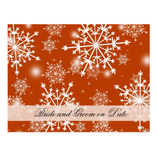 Luxury Snowflakes Winter Holiday Save date card
