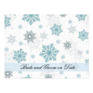 Luxury Snowflakes Winter White Save date card