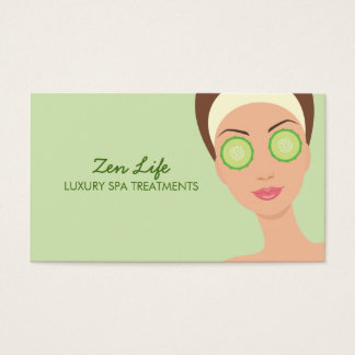 Luxury Spa Treatments Business Card