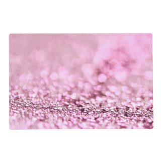 Luxury Sparkling Pink Rose Gold Glitter Placemat