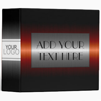 Luxury Stainless Metallic Metal Look #3 Binder