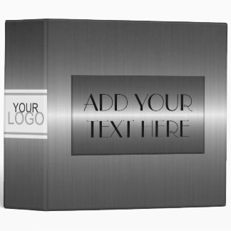 Luxury Stainless Metallic Metal Look Binder