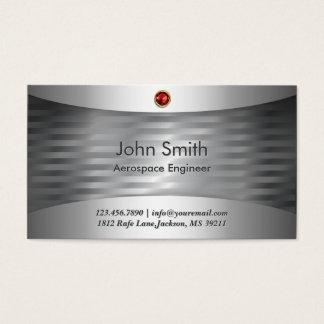 Luxury Steel Aerospace Engineer Business Card
