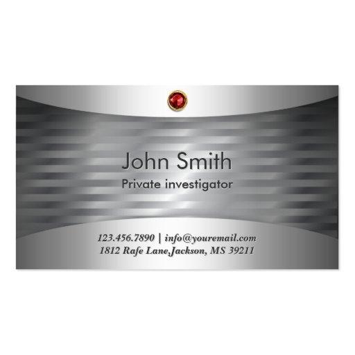 Luxury Steel Investigator Business Card