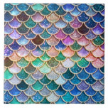 """Luxury summerly multicolor Glitter Mermaid Scales Tile<br><div class=""""desc"""">Wonderful summerly multicolor Mermaid Design I created from more than 130 different layers, colors and textures. Hope you like it.</div>"""