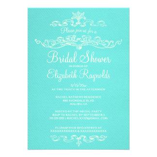 Luxury Teal Bridal Shower Invitations Invitation