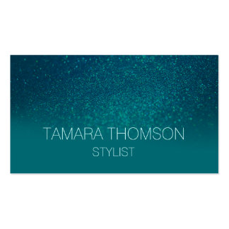 Luxury teal glitter business card templates