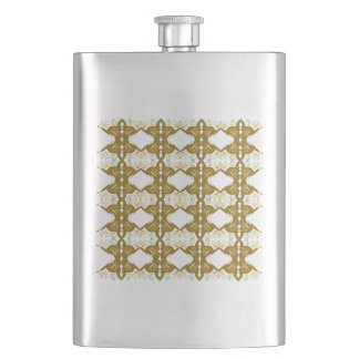 Luxury vint. mandalas Gold Flask