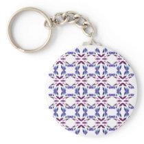 Luxury vint. ornaments on white keychain