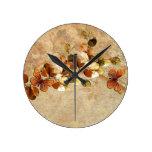 Luxury Vintage Autumn Leaf Clock Wallclock