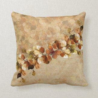 Luxury Vintage Autumn Leaf pillow