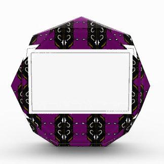 Luxury wedding Invitations / Purple, Black Lace Acrylic Award