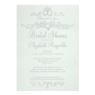 Luxury White Bridal Shower Invitations Personalized Invitations