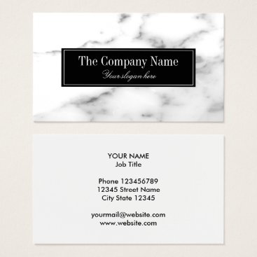 Professional Business Luxury white marble stone business card template