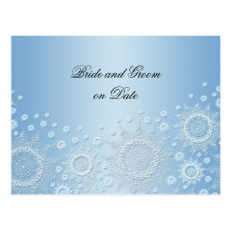 Luxury White Snowflakes Save date card