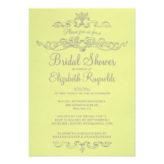 Luxury Yellow Bridal Shower Invitations Invite