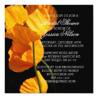Luxury Yellow Iceland Poppy Bridal Shower Invite