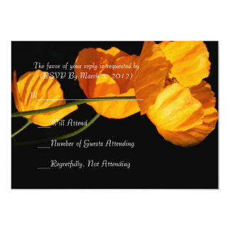 Luxury Yellow Iceland Poppy RSVP card