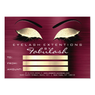 LuxuryLashes Extension Makeup Certificate Gift Card