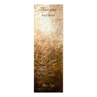 Luz 001 del oro - señal tarjetas de visita mini