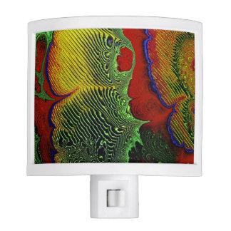 Luz 1-10 de la noche del arte del fractal lámpara de noche