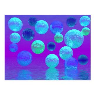 Luz abstracta ciánica y púrpura de la niebla postales