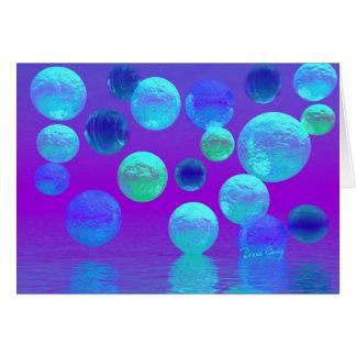 Luz abstracta ciánica y púrpura de la niebla tarjeta de felicitación
