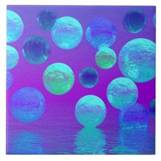 Luz abstracta ciánica y púrpura de la niebla viole azulejos ceramicos
