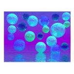 Luz abstracta ciánica y púrpura de la niebla viole tarjetas postales