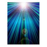 Luz abstracta tarjetas postales