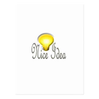 Luz agradable de la lámpara de la idea tarjeta postal