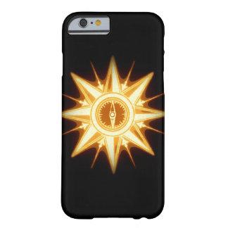 Luz alterada del rosa de compás del oro de funda de iPhone 6 barely there