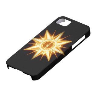 Luz alterada del rosa de compás del oro de iPhone 5 fundas