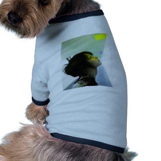 Luz ámbar camiseta con mangas para perro
