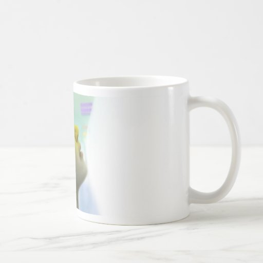 Luz ámbar taza de café