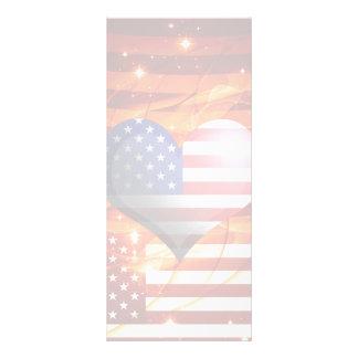 luz americana del diseño del corazón del orgullo lona publicitaria